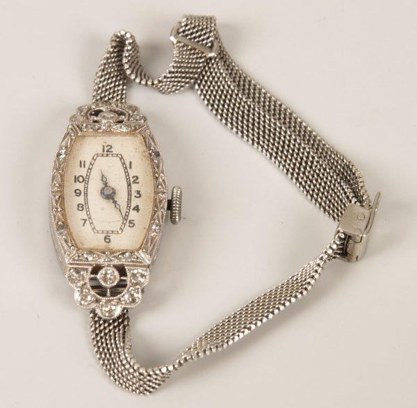 17: Early twentieth century platinum and diamond set co