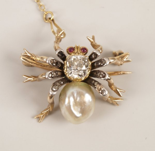 26: Early twentieth century diamond, pearl and ruby set