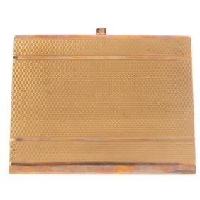 A 1920s 9ct gold cigarette case. Of rectangular