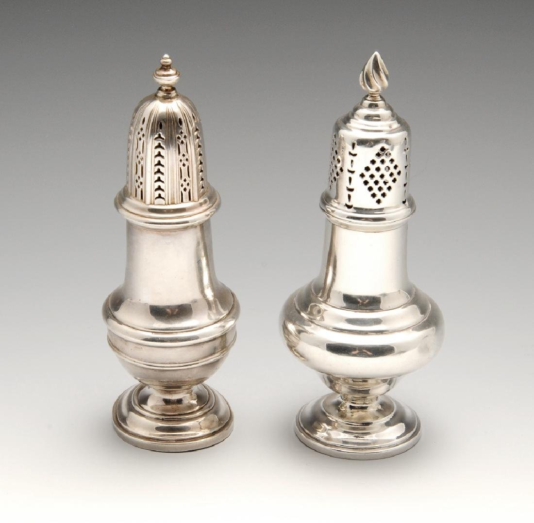 An Edwardian silver caster, of typical plain bellied