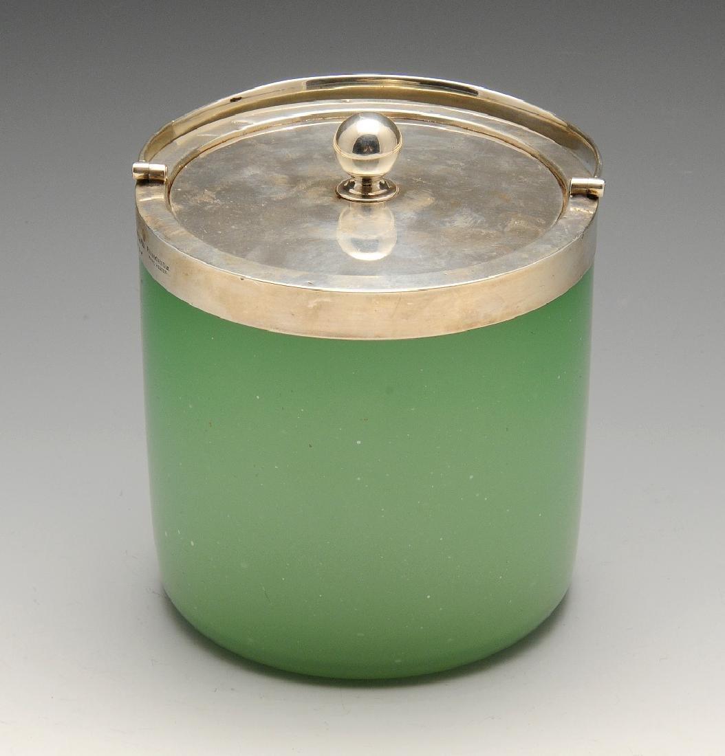 An early twentieth century silver mounted green-glass