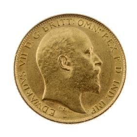 Edward VII, Half-Sovereign 1906. About extremely fine.