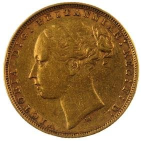 Victoria, Sovereign 1878M, young head. Very fine.