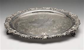 A selection of silver plated items to include a  turn