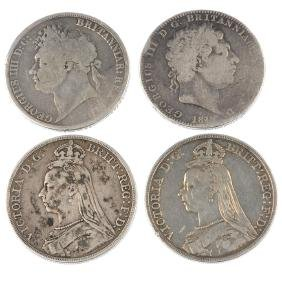 George III to Victoria, Crowns (4), pre-1947