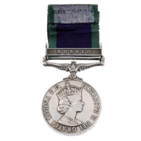 General Service Medal 1962-2007, Elizabeth II, Borneo