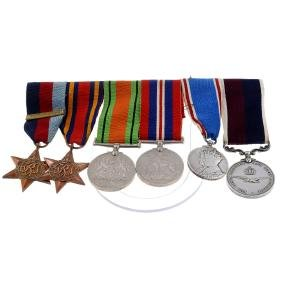 A WWII Medal Group., 1939-45 Star with replica Battle