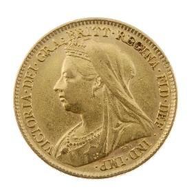 Victoria, Half-Sovereign 1898, old head. Very fine.