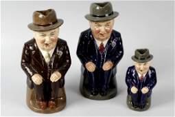 Three rare Royal Doulton 'Cliff Cornell' character