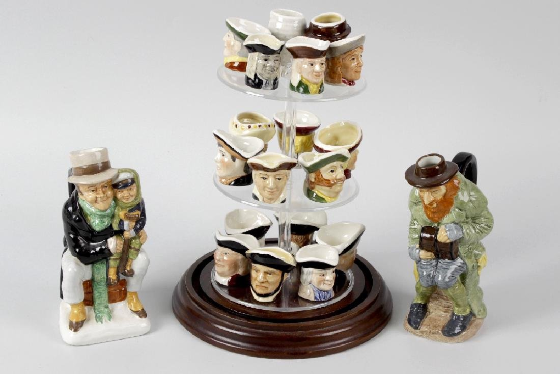 A large group of Beswick and other character jugs.