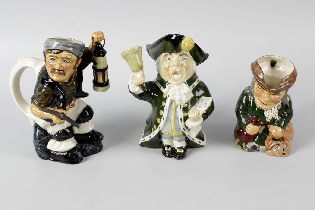 A large group of Roy Kirkham character jugs. To include