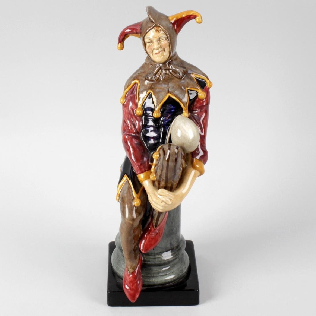 A Royal Doulton figure, 'The Jester', HN2016, green