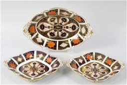 A set of five Royal Crown Derby Imari porcelain serving
