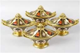 A set of four Royal Crown Derby porcelain Imari pattern