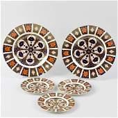 A group of Royal Crown Derby porcelain Imari pattern