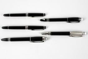 A collection of assorted Montblanc fountain pens and
