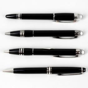 A Montblanc Meisterstuck platinum line ballpoint pen in