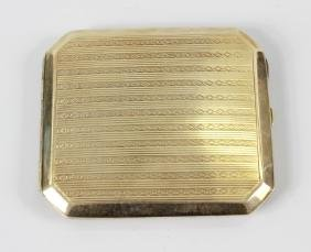 A 14ct gold cigarette case, of rectangular form with
