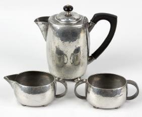 A Liberty & Co English pewter number 01535 hot water
