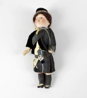 A Walther & Sohn (German) bisque-headed doll. With