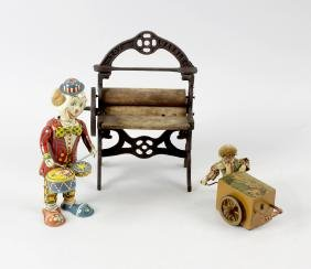 Assorted toys and dolls to include a Dinky die cast