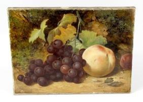 Henry Chaplin (19th century), an unframed oil painting