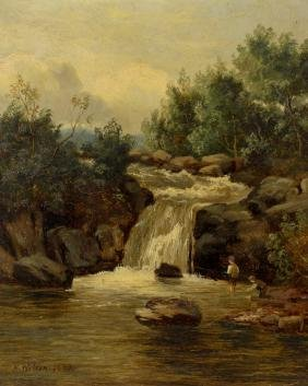 H Wilson (19th century), an oil painting on canvas,