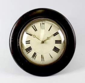 A box containing a group of assorted clocks.