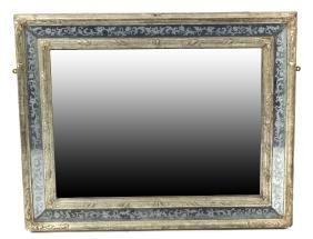 A 19th century Italian wall mirror. The rectangular
