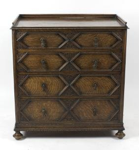 A good quality early 20th century German carved oak