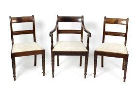 A set of six (5 x 1 arm) early 19th century mahogany