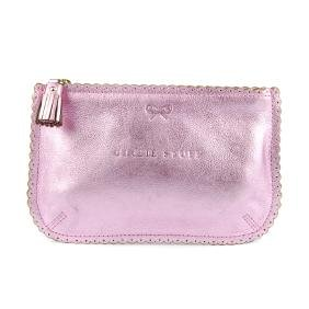 ANYA HINDMARCH - a metallic pink Girly Stuff pouch.