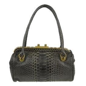 BOTTEGA VENETA - a python skin petite frame handbag.