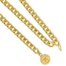 CHANEL - a chain belt. Designed as a gold-tone filled