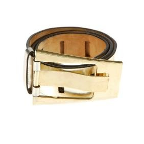 GUCCI - a metallic leather belt. Featuring a metallic