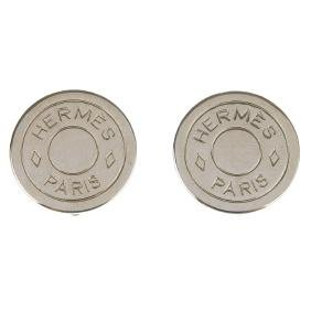 HERMÈS - a pair of ear clips. Of circular outline with