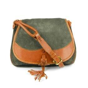 LOEWE - a 1970s vintage saddle handbag. Designed with a