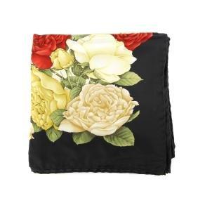 SALVATORE FERRAGAMO - a silk scarf. Decorated with two