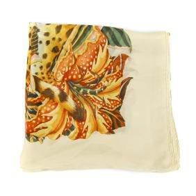SALVATORE FERRAGAMO - a silk scarf. Printed on sheer