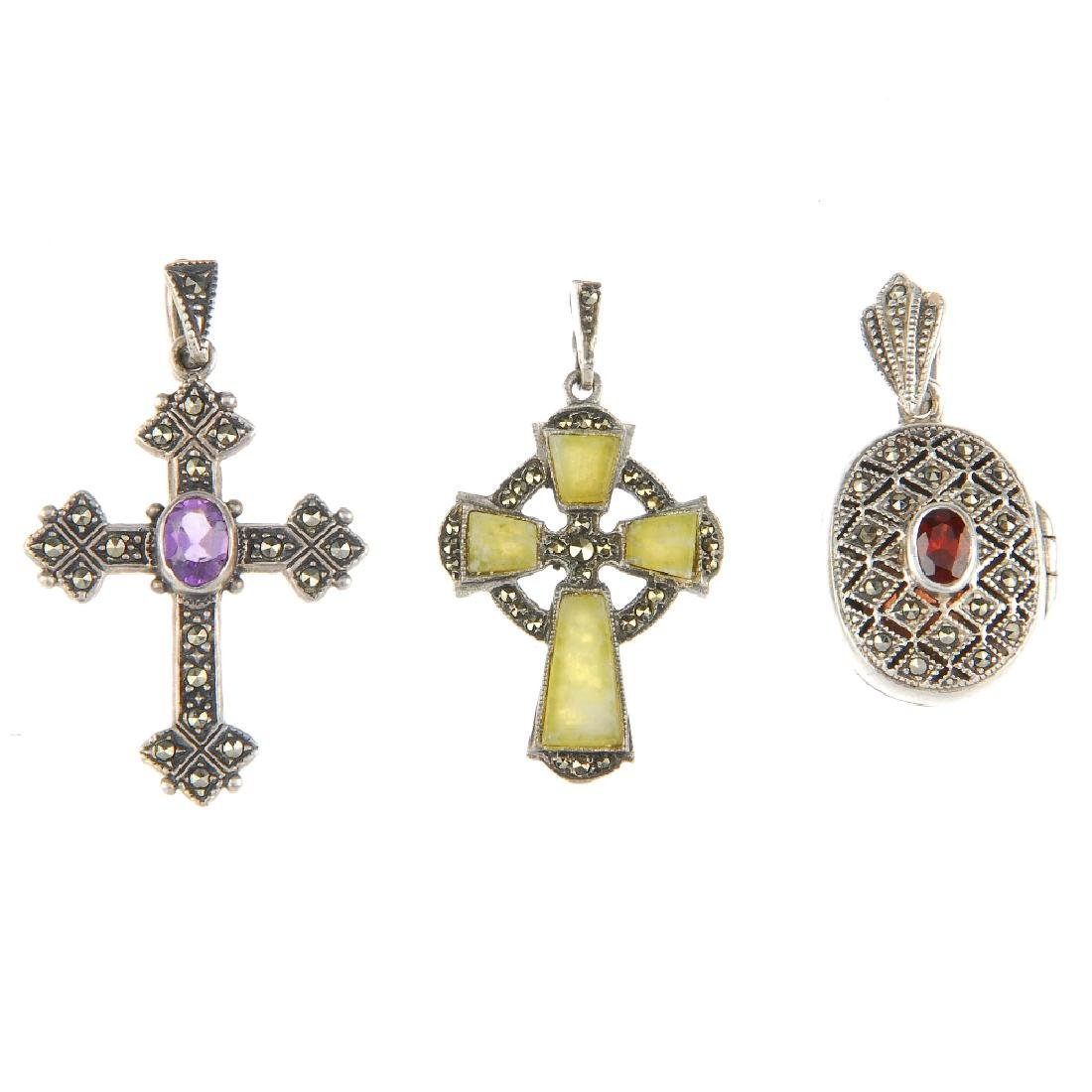 A selection of marcasite jewellery. To include