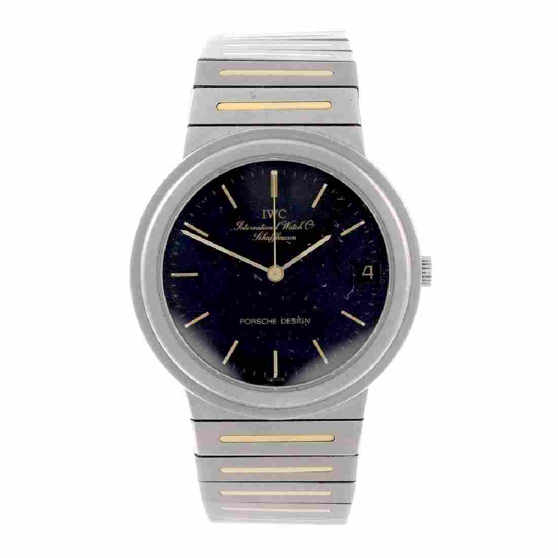 IWC - a mid-size Porsche Design bracelet watch.