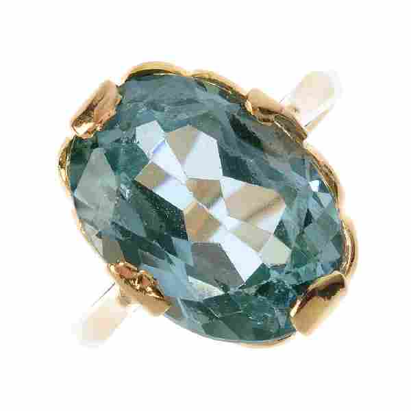 Two items of synthetic gem-set jewellery. To include an