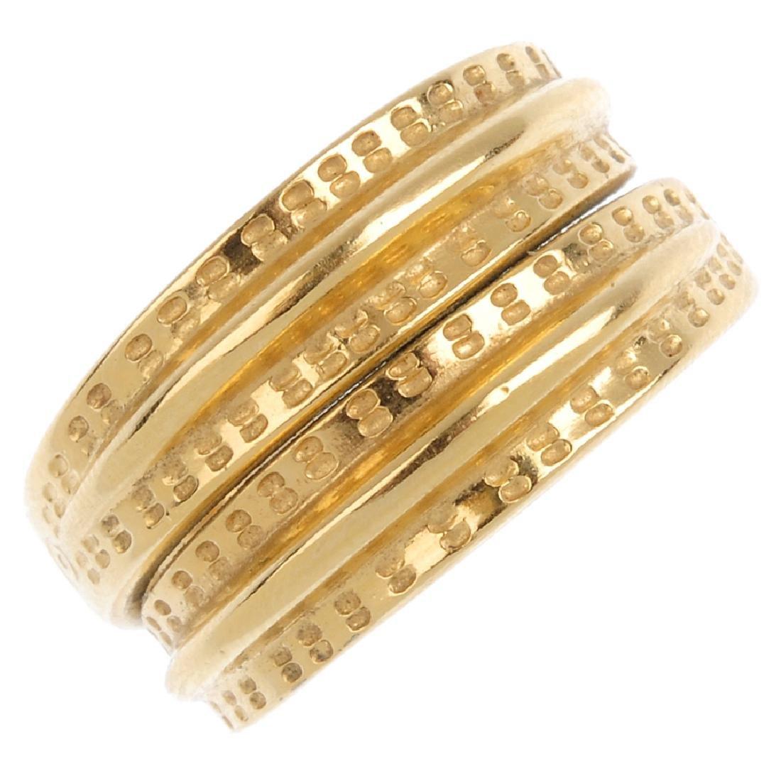 DAVID ANDERSON - a mid 20th century 'Saga' ring.