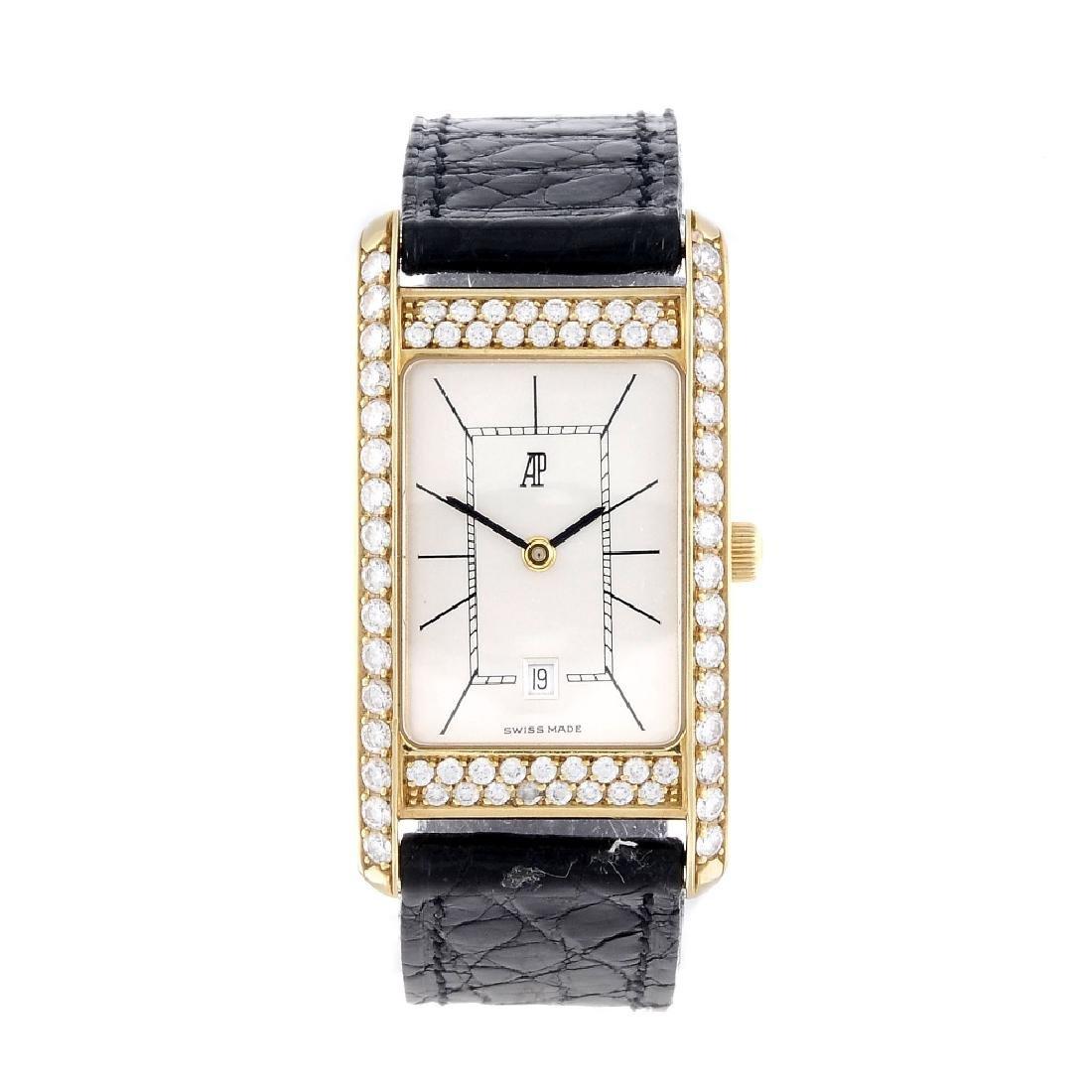 AUDEMARS PIGUET - a lady's wrist watch. Factory diamond