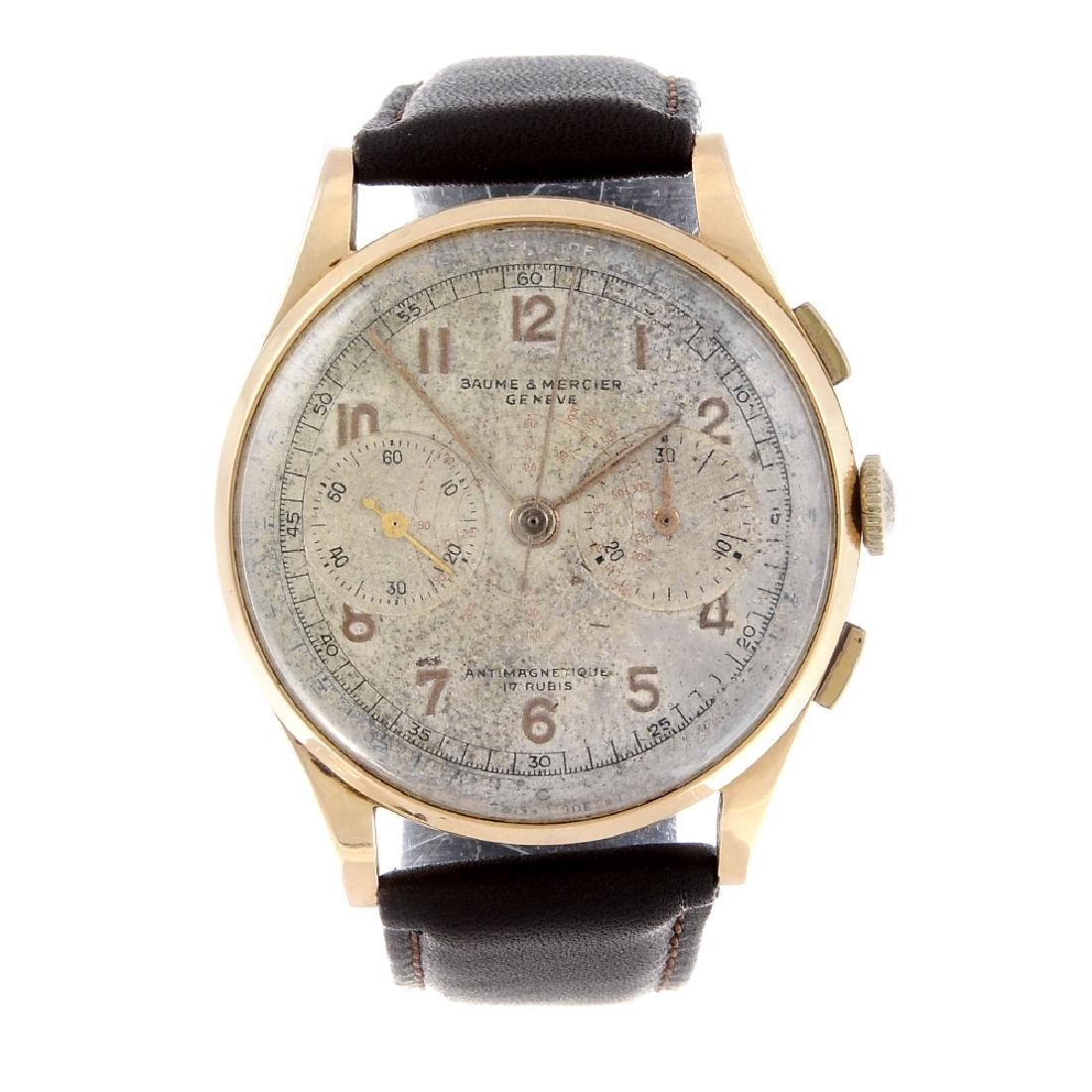 BAUME & MERCIER - a gentleman's chronograph wrist