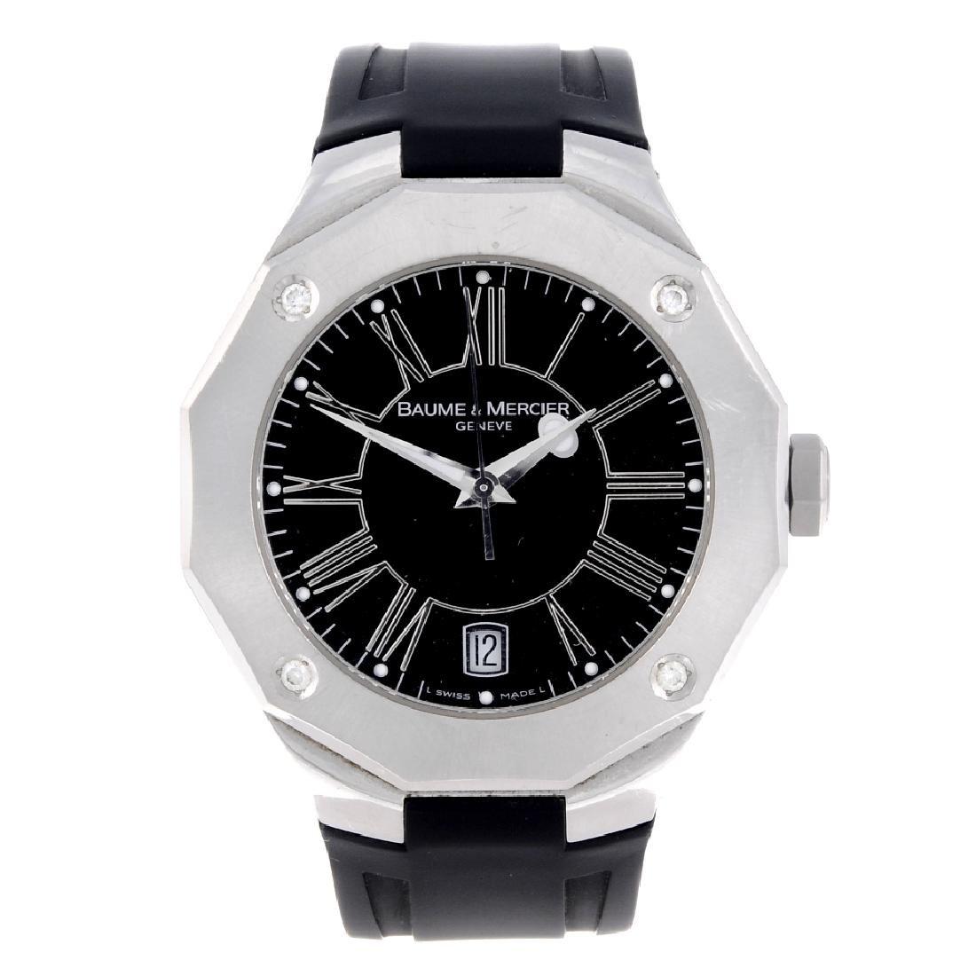 BAUME & MERCIER - a gentleman's Riviera wrist watch.