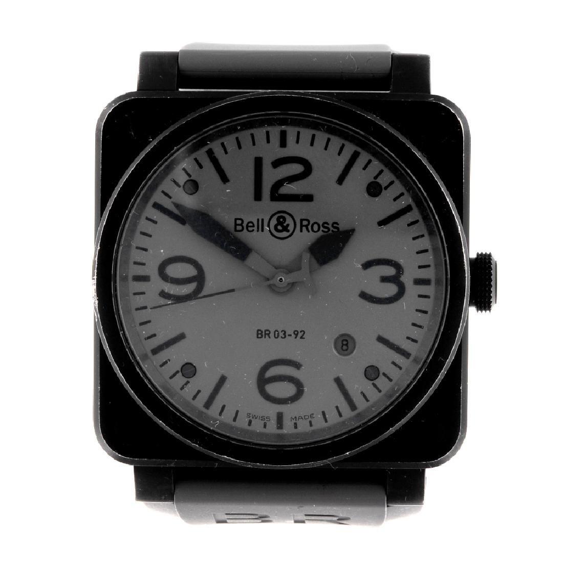 BELL & ROSS - a gentleman's Commando wrist watch. PVD
