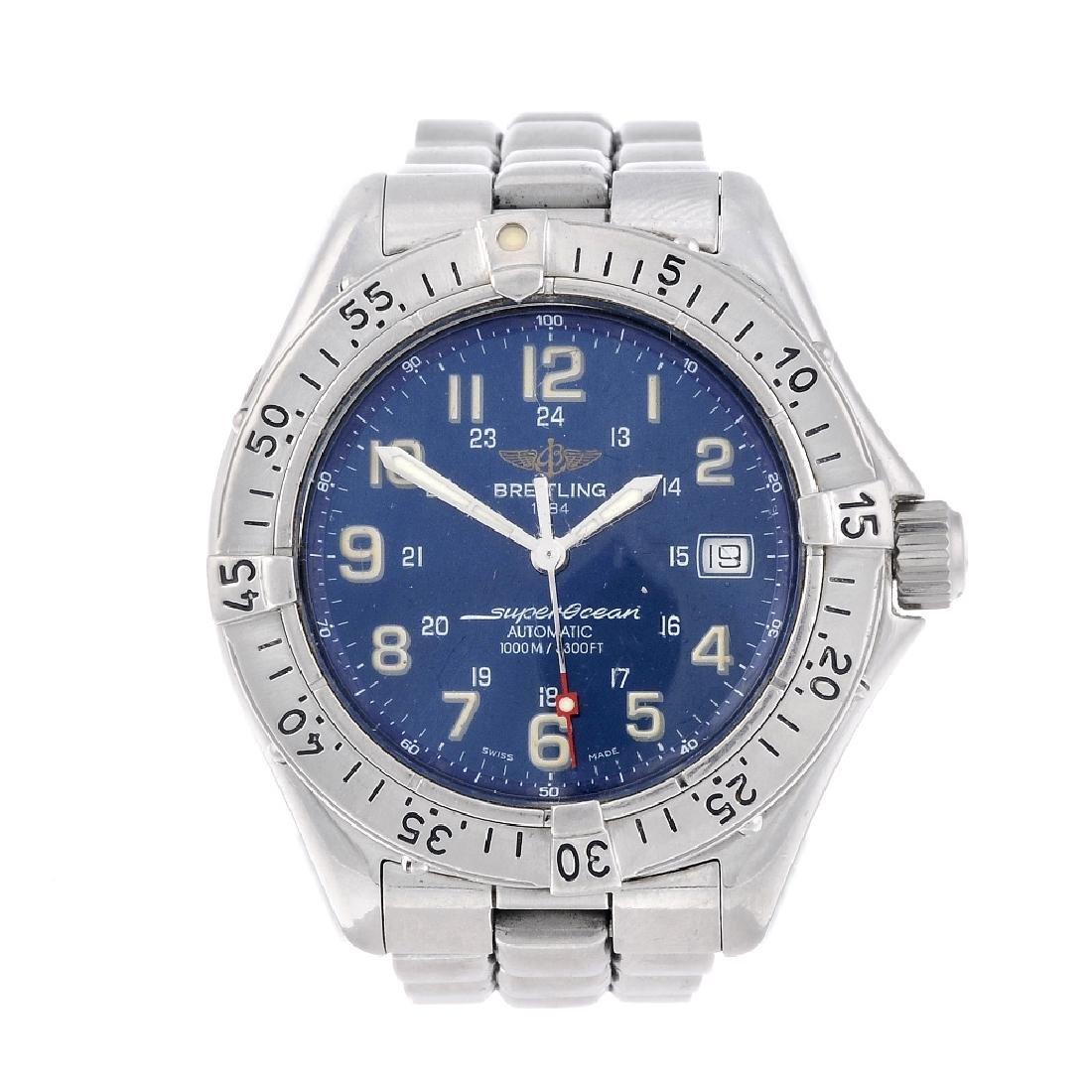 BREITLING - a gentleman's Superocean bracelet watch.