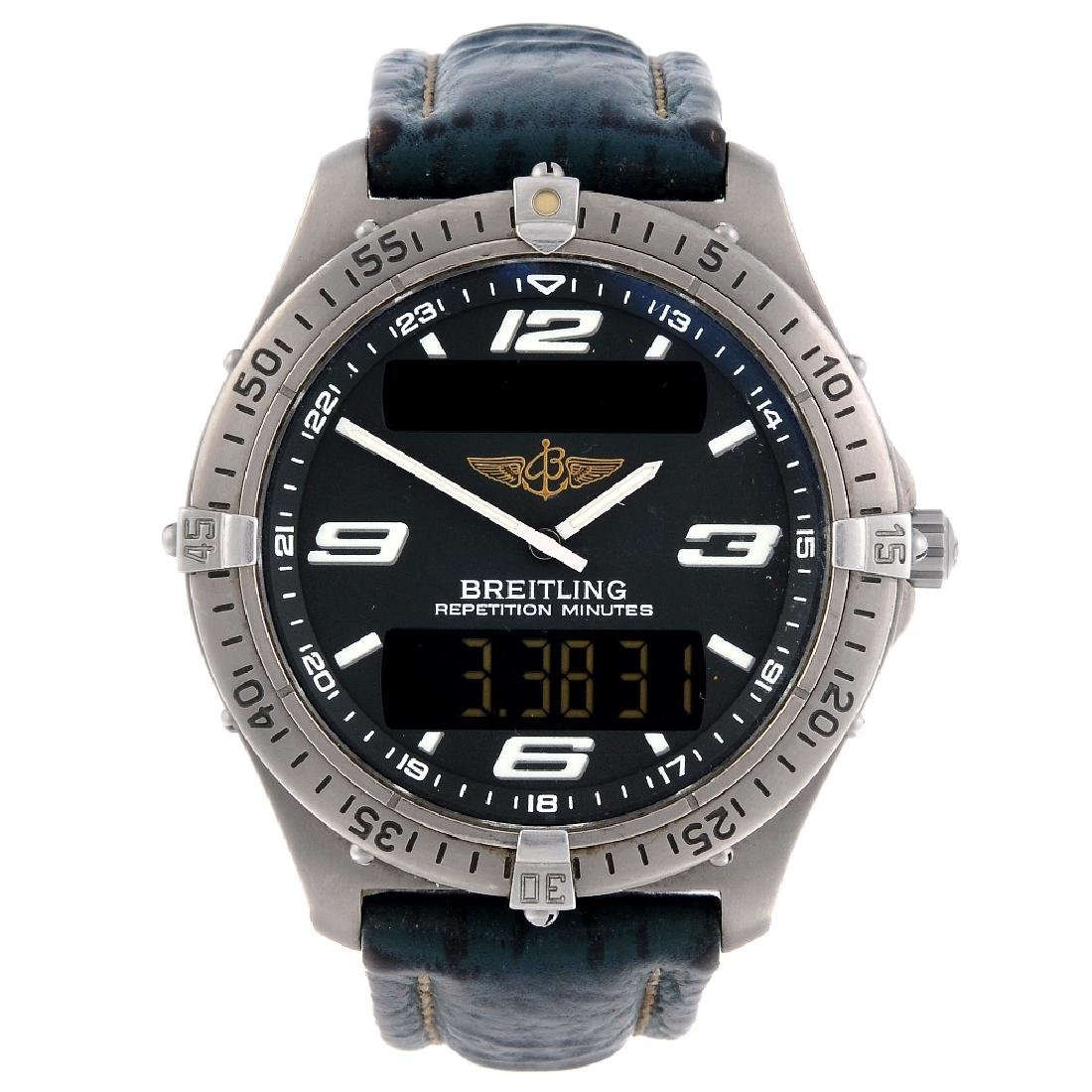 BREITLING - a gentleman's Aerospace wrist watch.