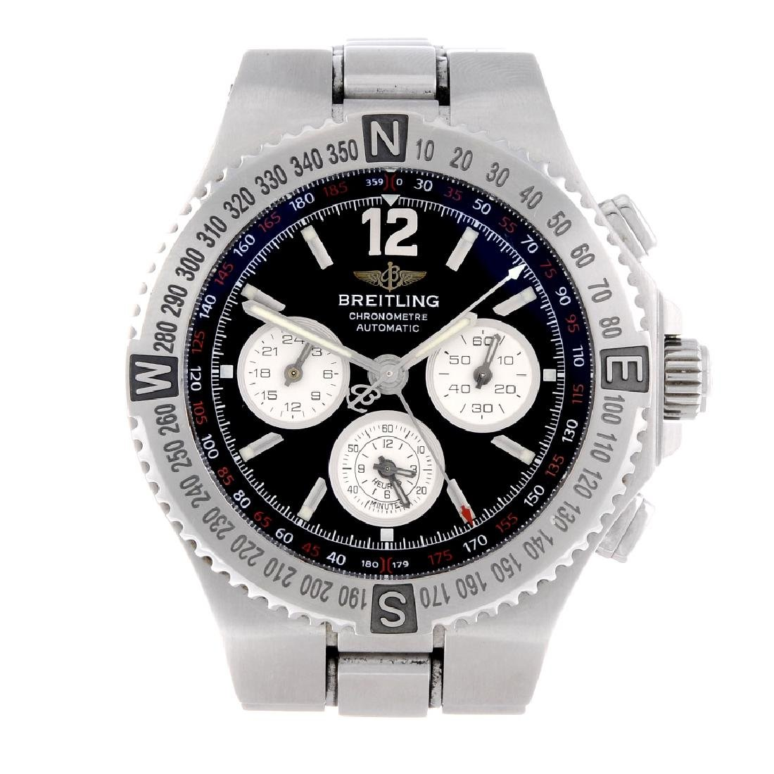 BREITLING - a gentleman's Hercules chronograph bracelet